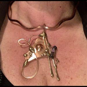 Artisan Curved Cooper Choker w/ Artisan Charm